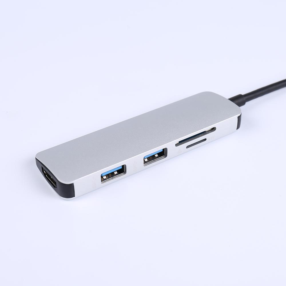 5 In 1 Type C HUB 4K Port USB 3.0 For Macbook Pro