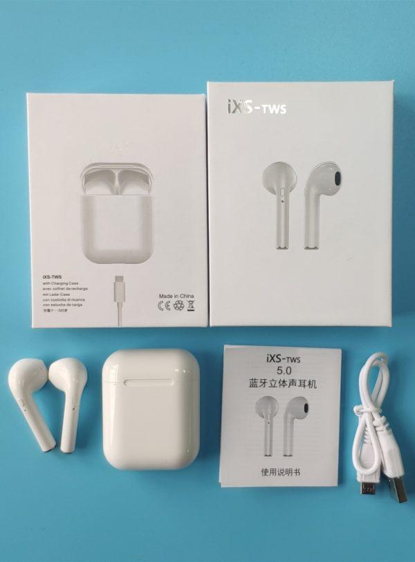 Factory price iXS TWS earbuds bluetooth earphone wireless 5.0 stereo earphone