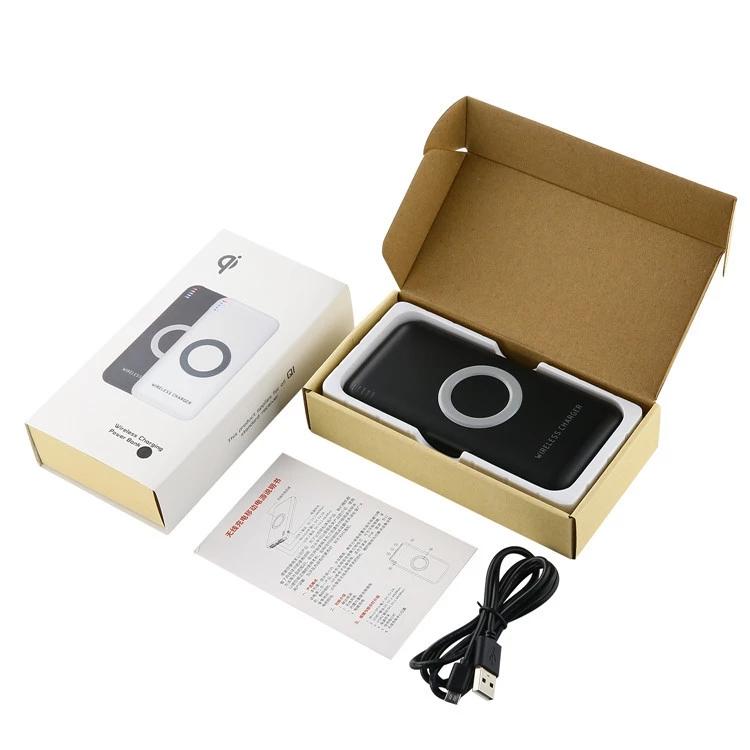 fast charging 6000mah QI wireless charger power bank Shenzhen manufacturer