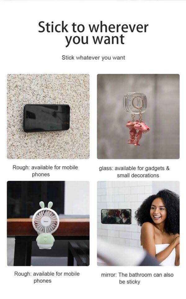 Multifunctional Nano magic sticker Gel Pad for Phone Holder Sticker Strong Stick Glue Wall Sticker Mobile Phone Holder