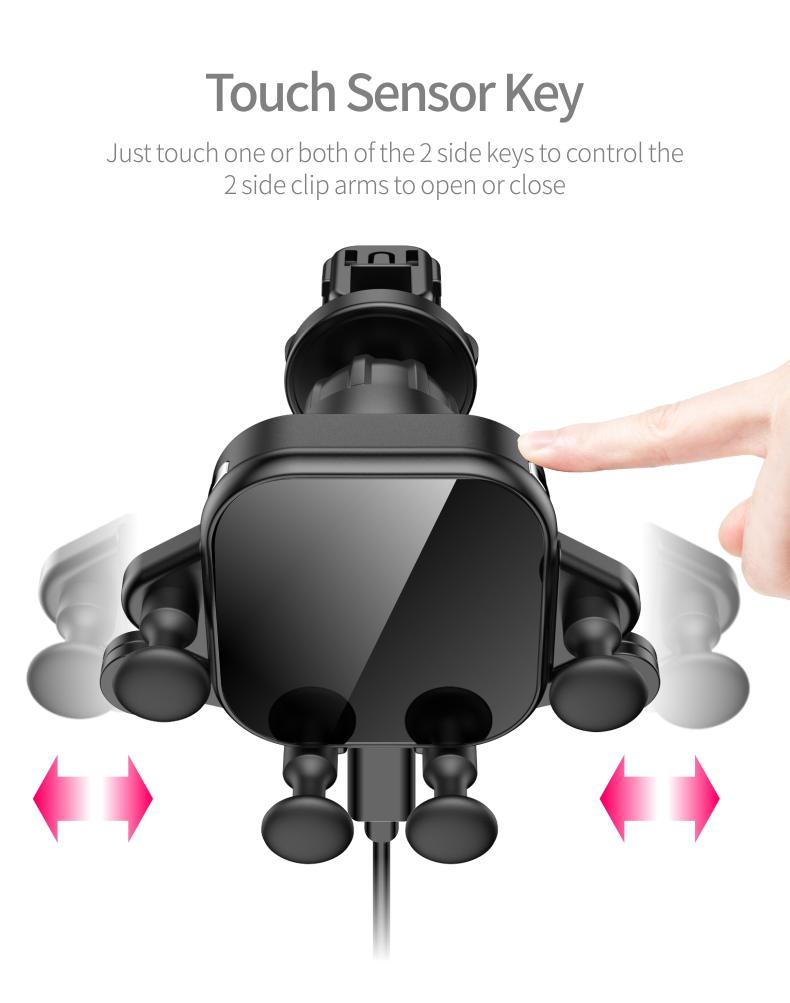 Mini Smart Sensor Car Fast Wireless Charger