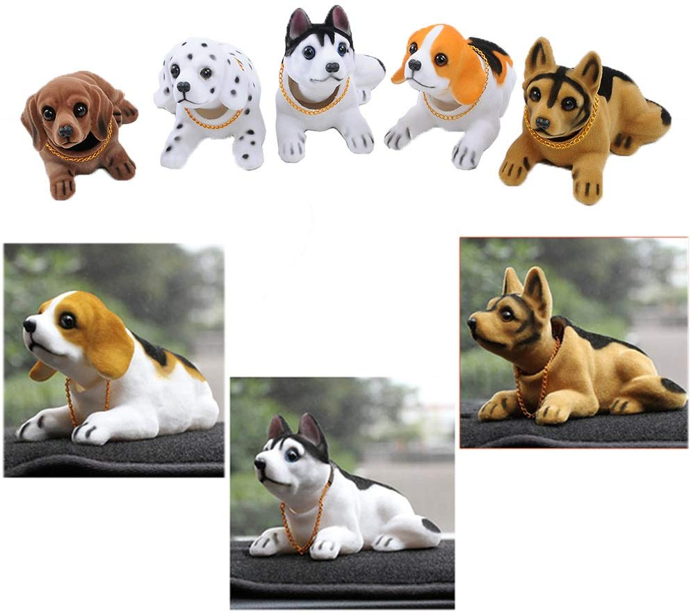 Ebow Dashboard Head Dogs Nodding Heads Car Dash Puppy for Car Vehicle Decoration