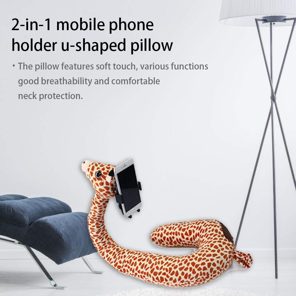 New multi-functional lazy mobile phone stand u-shaped neck pillow