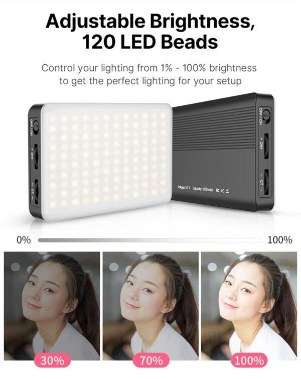Conference Lighting Kit LED Video Light and TPU Sucker