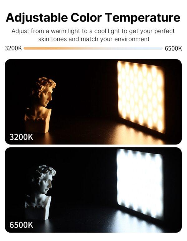 Conference Lighting Kit VL120 LED Video Light with TPU Sucker