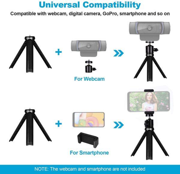 Mini Tripod for CameraPhoneWebcam (2)