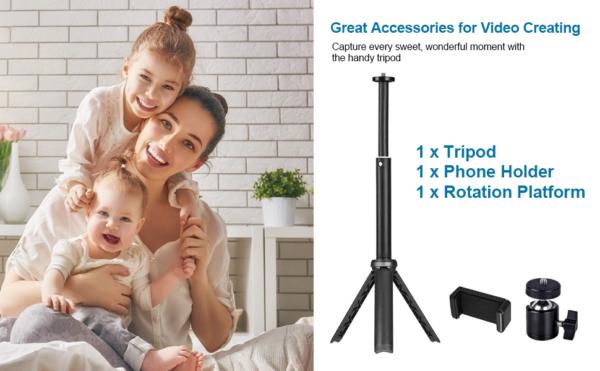 tripod stand phone holder