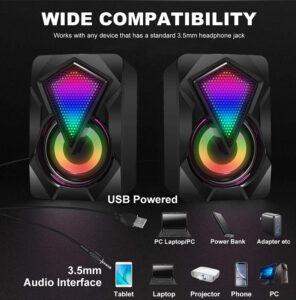 2.0 USB Computer Speakers RGB