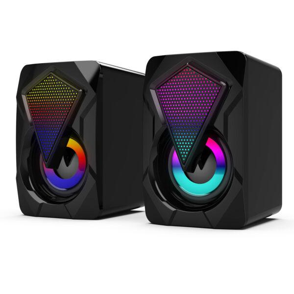 2.0 USB Computer Speakers RGB Desktop