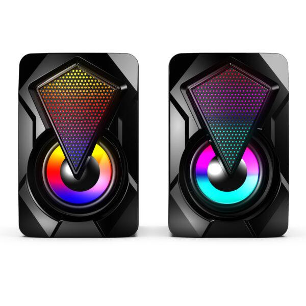 2.0 USB Computer Speakers RGB Desktop Stereo Speaker
