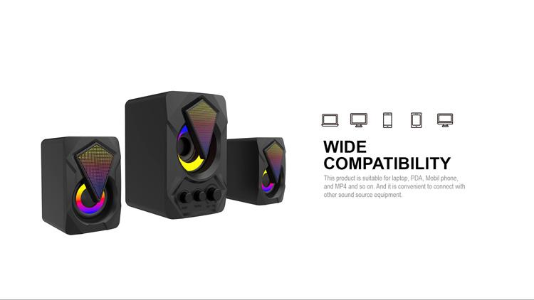 Gaming Speaker OEM ODM Manufacturer USB PC Gaming RGB Wired 2.0 Speakers
