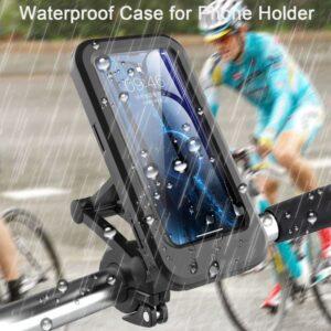 Waterproof Bike Phone Mount Cell Phone Holder for Motorcycle