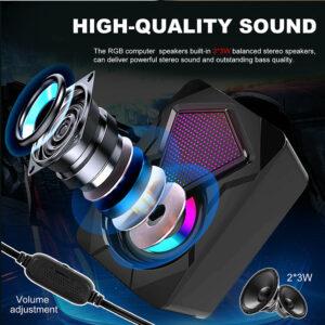 usb power 2.0 karaoke gaming pc speaker