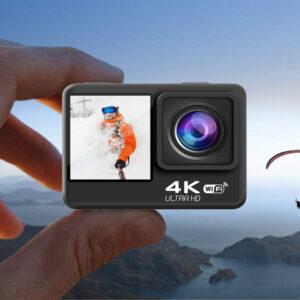Dual Screen 4K Action Camera 16MP Underwater Waterproof Sport Camera GC-S60TR